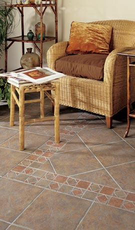 glazed floor tile